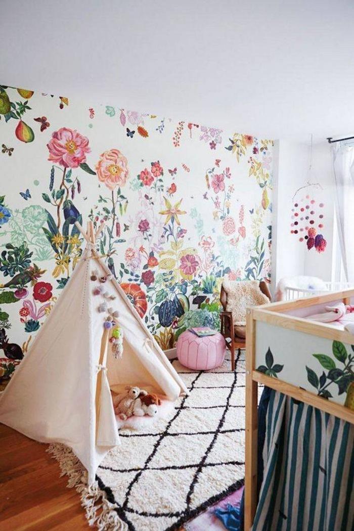 decoración de primavera tipi habitacion infantil