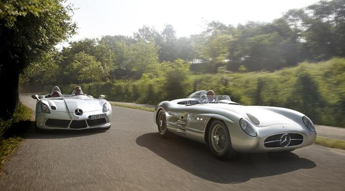 coches clasicos mercedes versus moderno deportivos