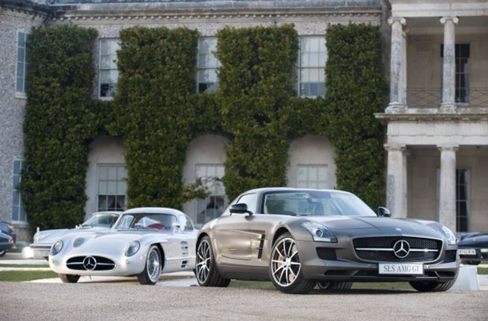 coches clasicos mercedes sls y modernos