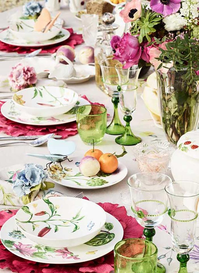 decoración de primavera mesa