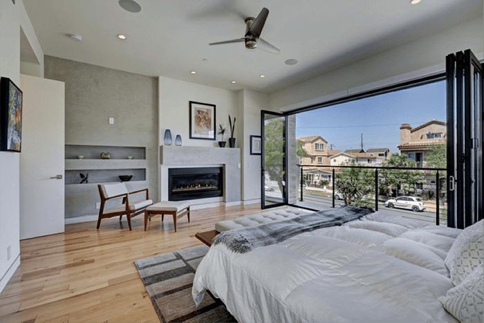 dormitorio ventanal ventilador techo