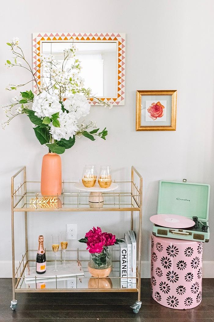 decoración de primavera hogar flores