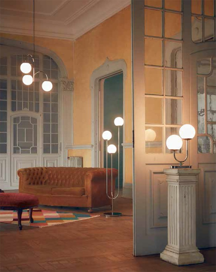 lamparas bolas cristal mid century IKEA