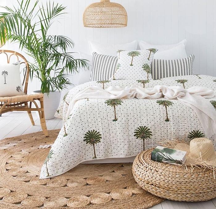 dormitorio verano doble bohemio ratan