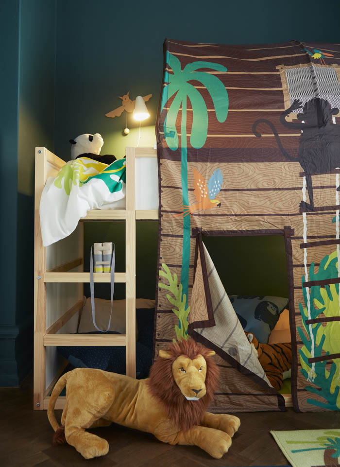 cobertizo cabaña niños cama