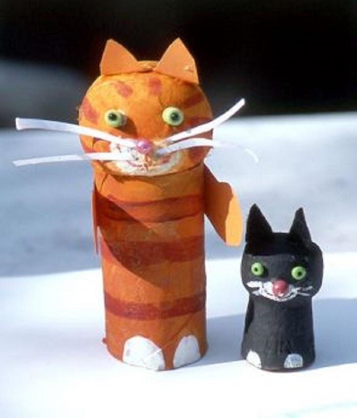 manualidades con gatos niños