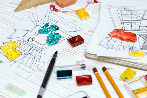 planos interiorismo colores