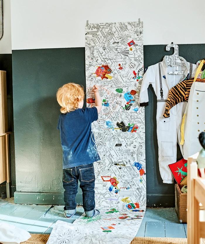 pintura en casa niños