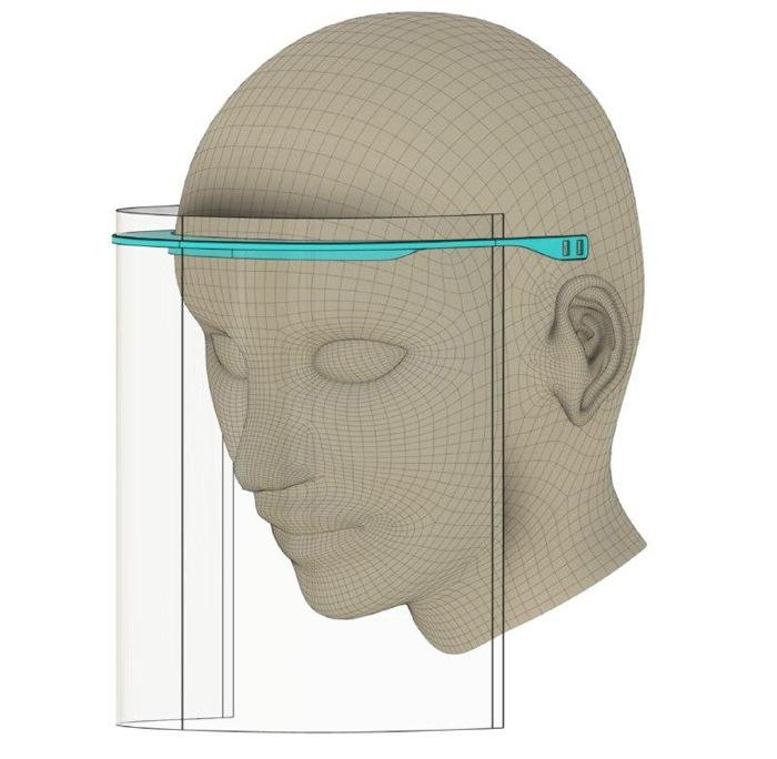 coronavirus makers prototipo diseño visera sanitarios