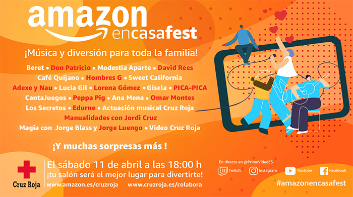 #AmazonEnCasaFest festival musical familiar online covid 19