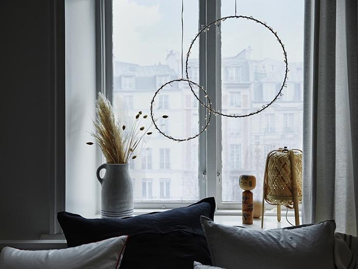 Circulos decorativos bohemios ventana