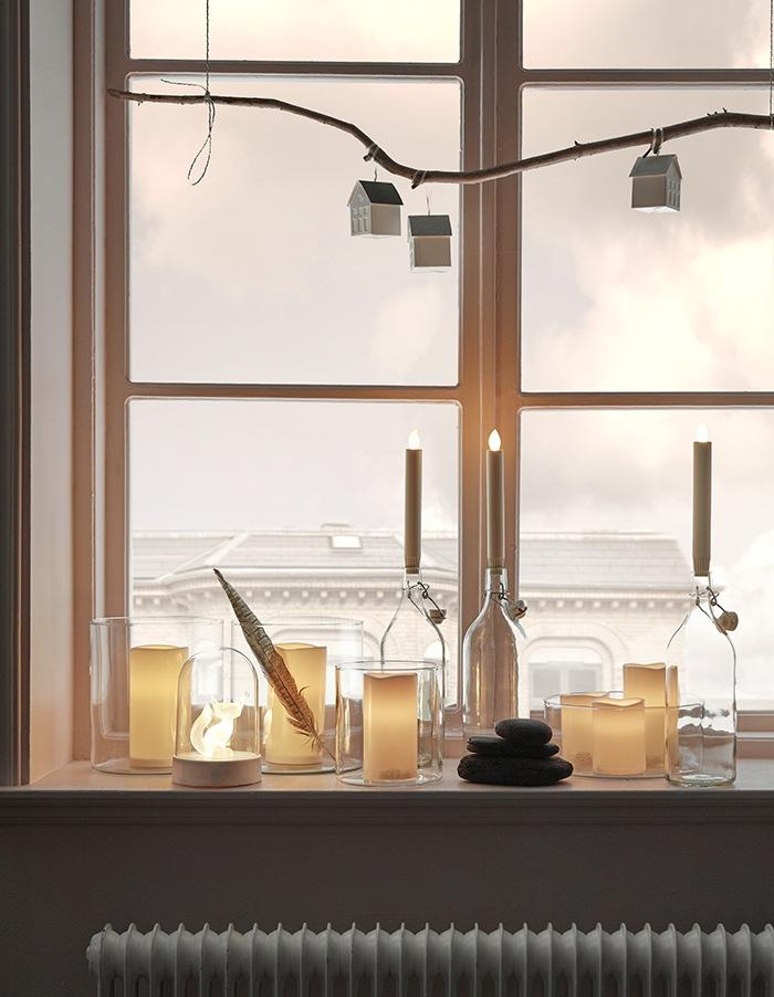 velas decoracion ventana