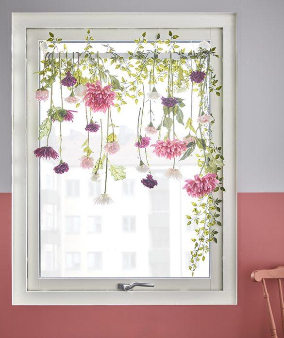 decoracion ventana flores IKEA