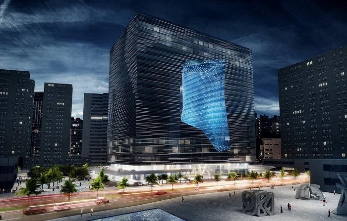 Opus edificio futurista