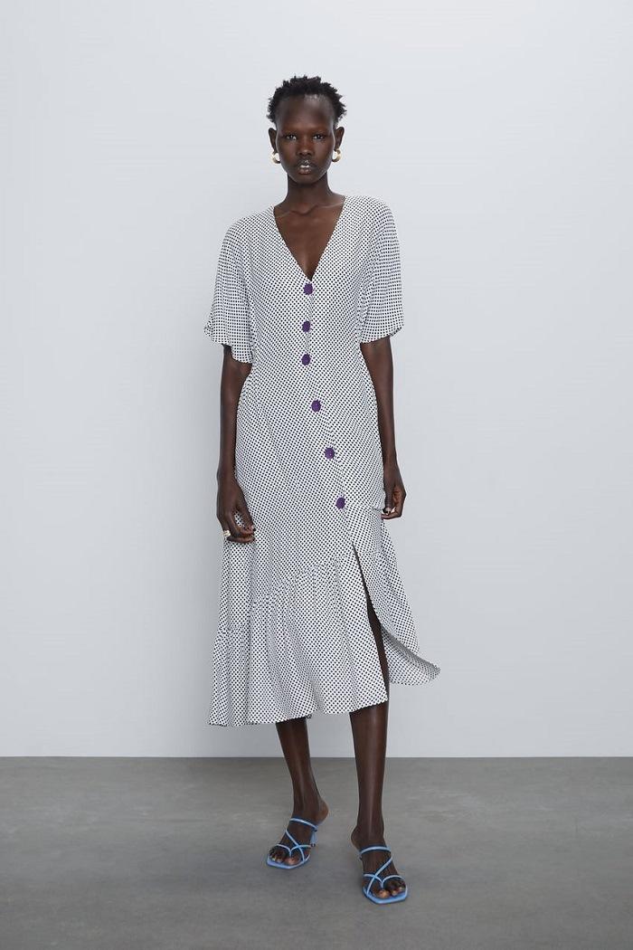 vestido larga zara