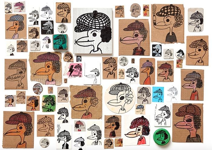 collage imagenes cara pato