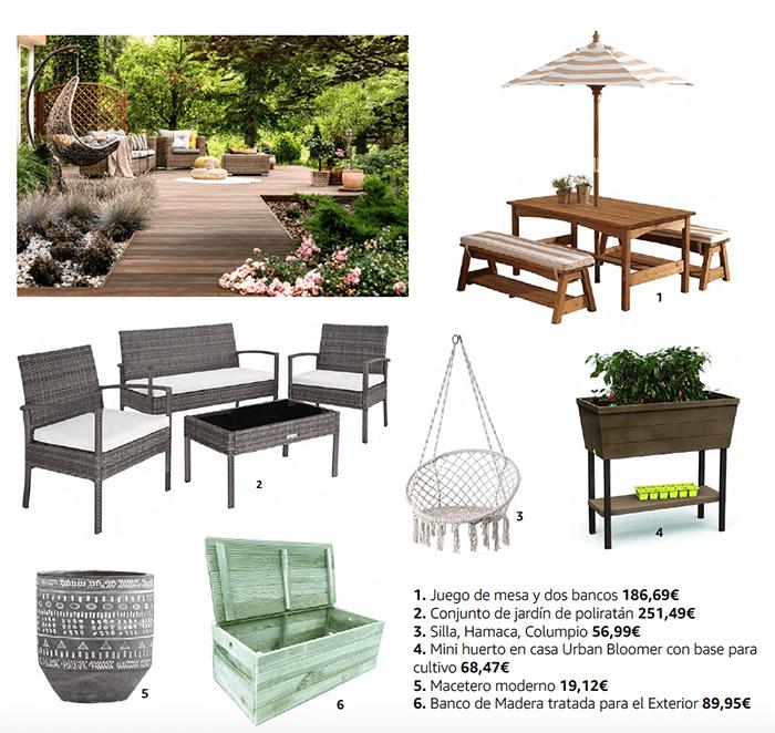 muebles y complementos jardin terraza
