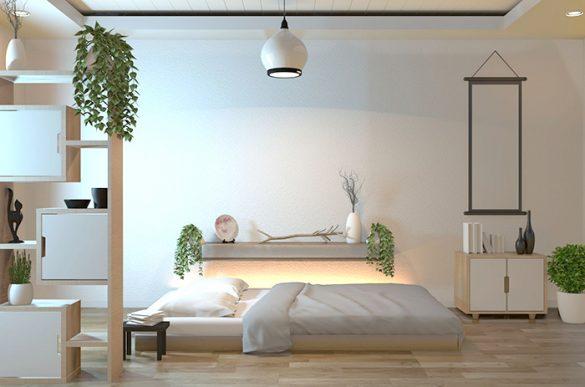cama doble futon decoracion armonia