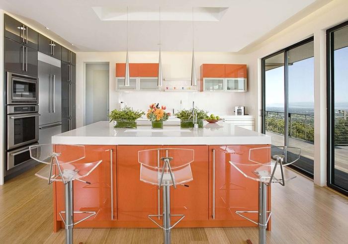 Introduce el color naranja en tu cocina