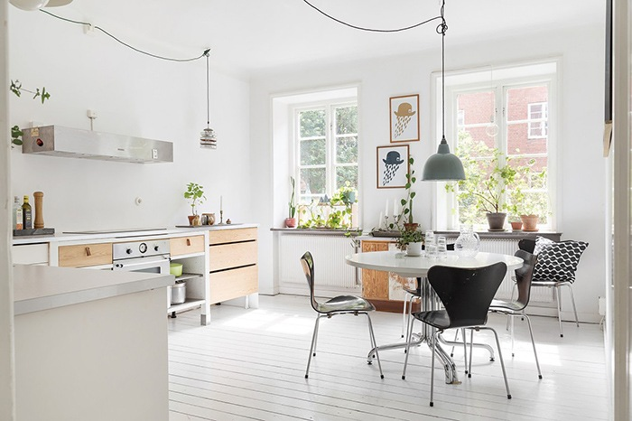 Decoterapia cocina nordica blanca