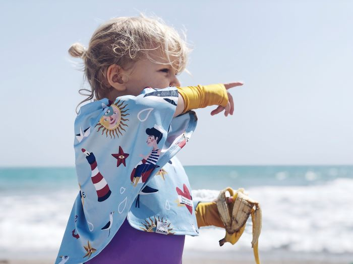 capa protección del sol de la playa