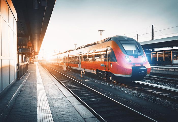 anden de tren alta velocidad