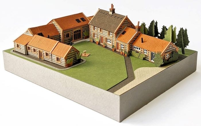 Miniatura de casas rurales
