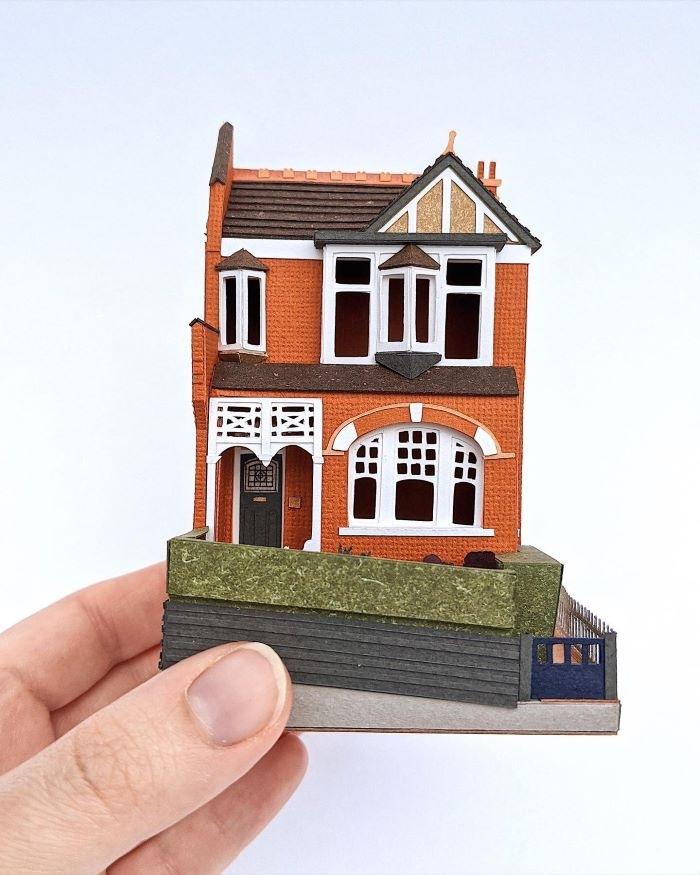 Miniatura de una casa inglesa