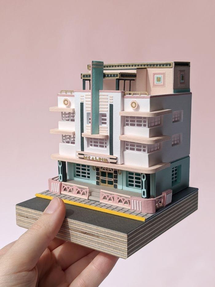 Apartamento en miniatura por Ellie Sampson