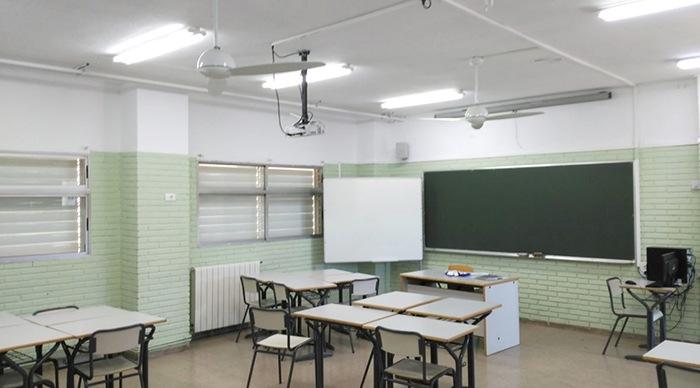 ventiladores techo aulas
