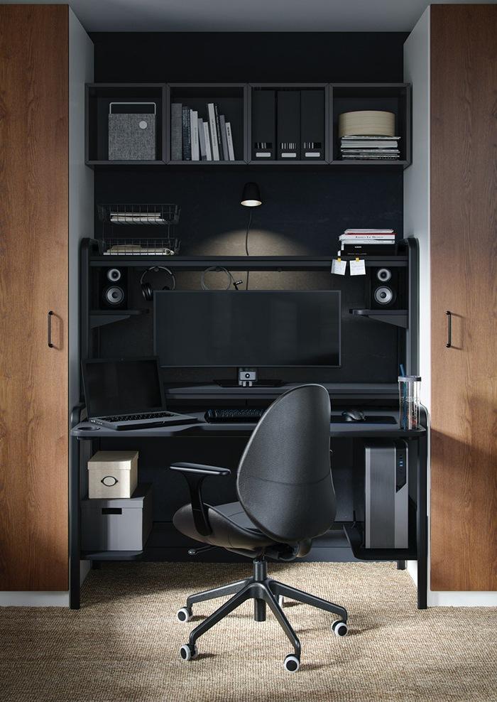 escritorio y espacio negro