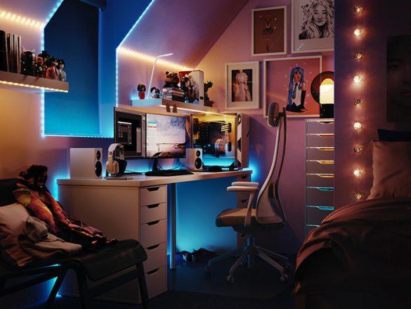 dormitorio neones y led colores