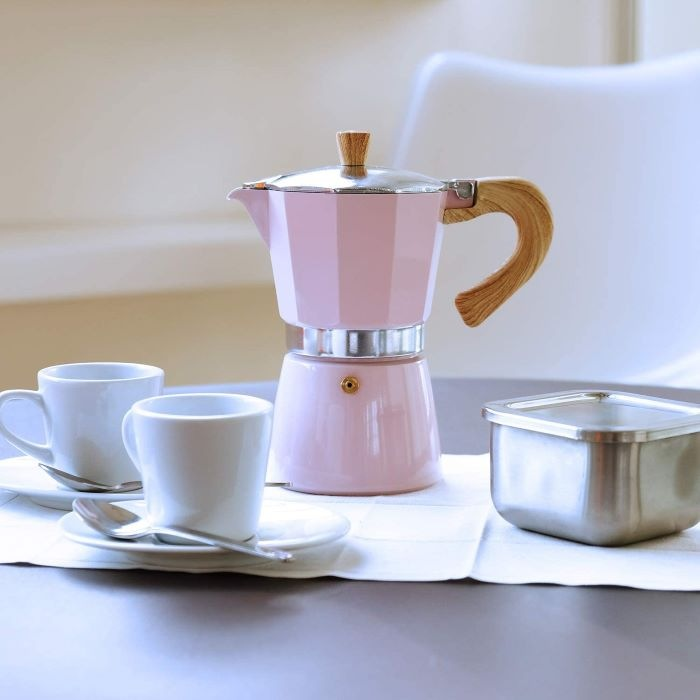 Cafetera italiana de diseño