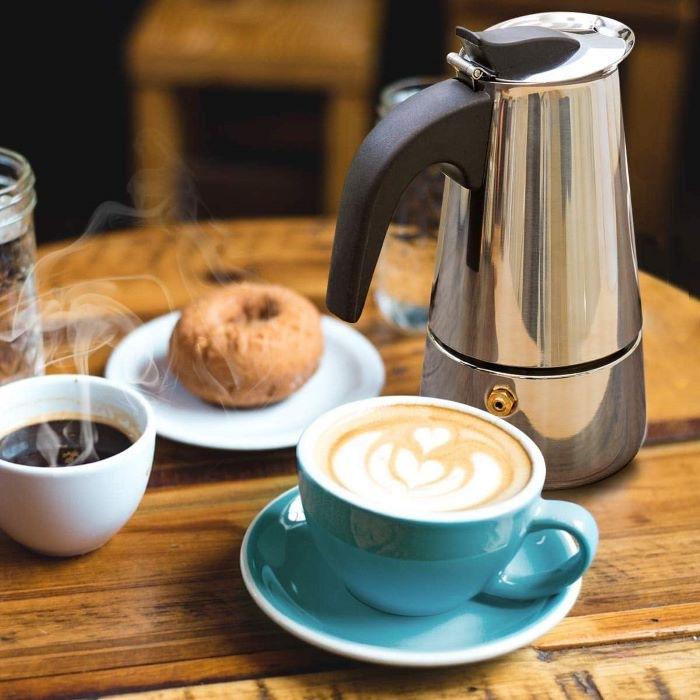 Cafetera italiana de diseño Alessi