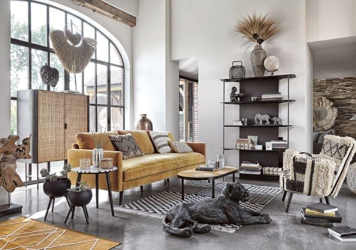 maceteros-de-metal-negro-estilo-contemporáneo de Maisons du Monde