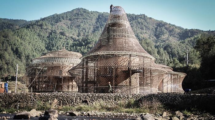 Ganador concurso arquitectónico ArchDaily 2021 estructura bambú