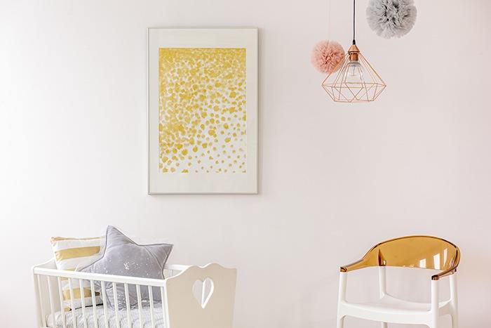 habitación para niños con colores pastel