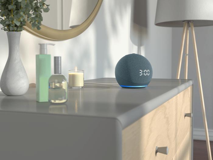 Echo-Dot-con-reloj dispositivo amazon