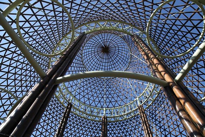 Ganador concurso arquitectónico ArchDaily 2021 cúpula bambú proyecto