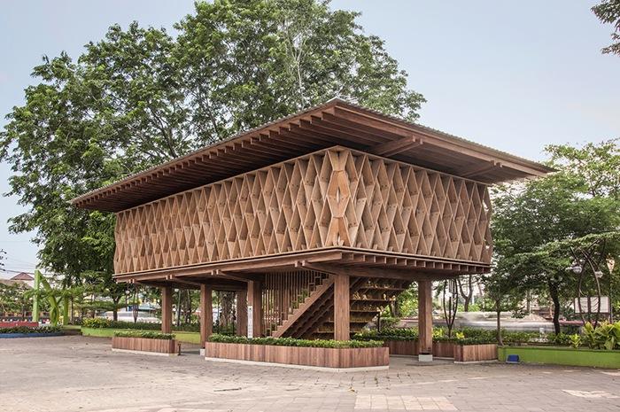 Ganador concurso arquitectónico ArchDaily 2021 vista exterior librería