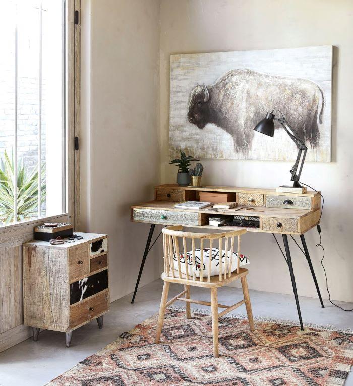 Escritorio de estilo exótico para tu dormitorio y tu teletrabajo