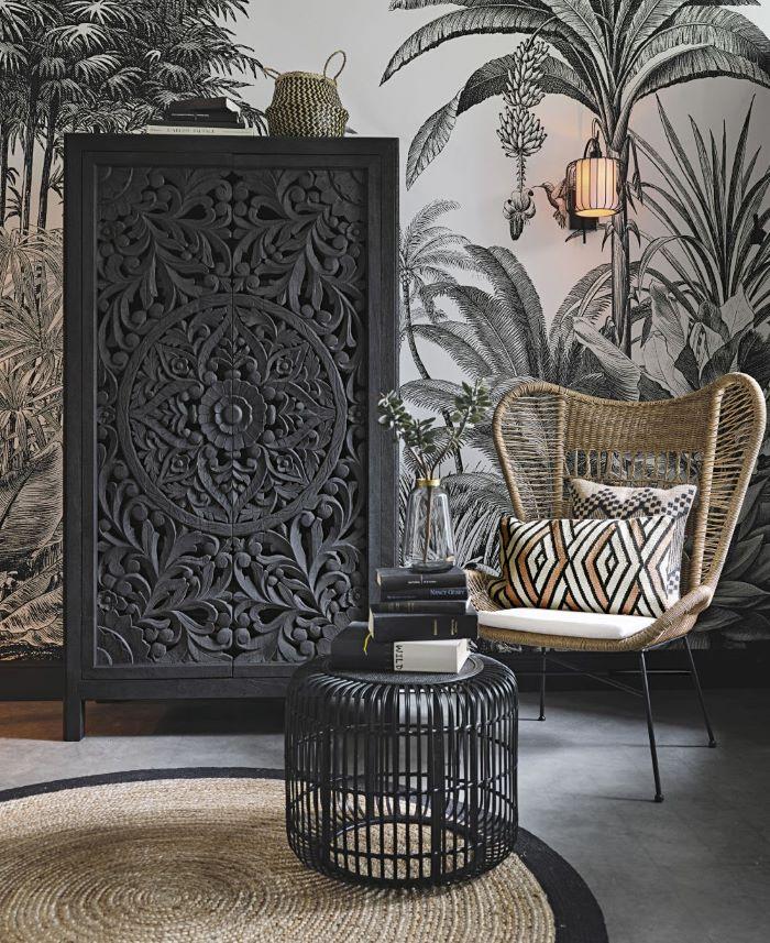 Guardarropa de estilo exótico color negro para tu dormitorio