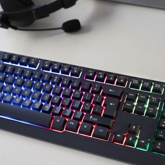 Teclado para jugar en el ordenador con luces LED, regalo para San Valentín